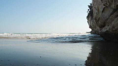 Landscape of wild beach in the Gargano, Apulia, Italy.