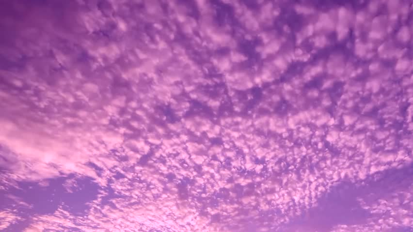 Evening sunset time lapse, beautiful burning clouds, orange, red, blue, purple colors in horizon. Panoramic view, fast motion. | Shutterstock HD Video #1012940549