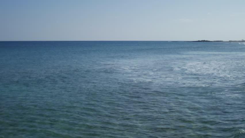 Cyprus quiet blue seascape 4K | Shutterstock HD Video #1012946699
