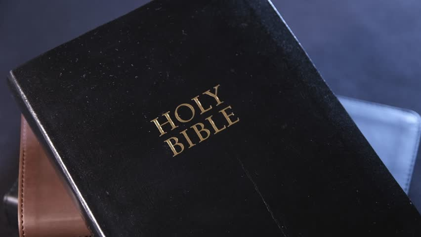 Black Bible Cover with Gold Embossed Holy Bible 02