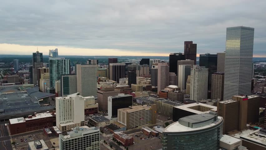 4k aerial drone footage - City of Denver, Colorado