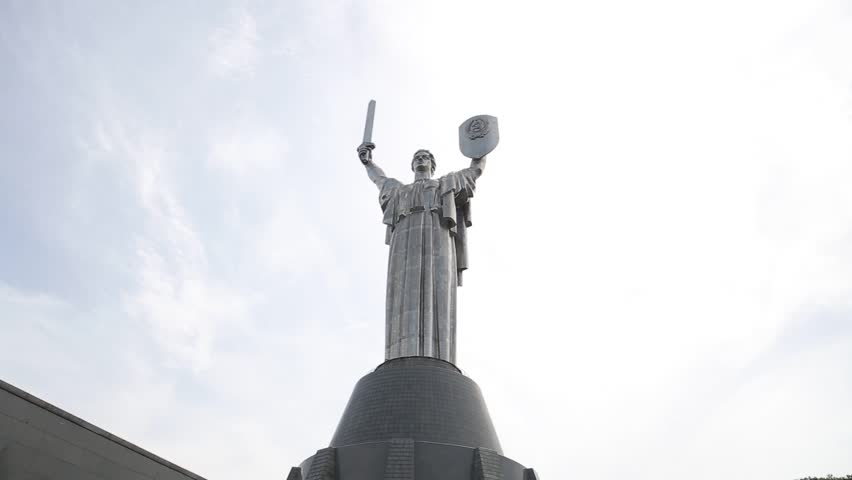 KYIV, UKRAINE - June 28, the monument to the Mother of the Motherland on May 25, 2013 in Kiev, Ukraine. The sculpture is part of the Museum of the Great Patriotic War, with a total structure of 102 m
