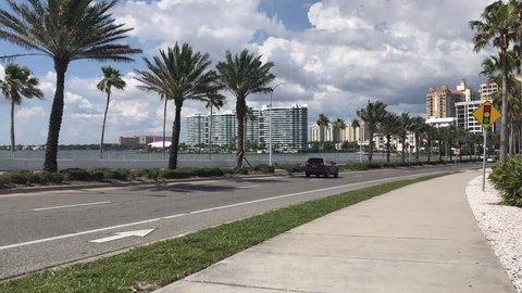 Ringling Bridge and Sarasota Downtown