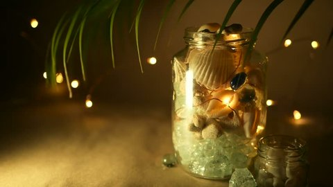 tropical home decor items glass jar of tropical shells stock footage video  100  royalty  glass jar of tropical shells stock