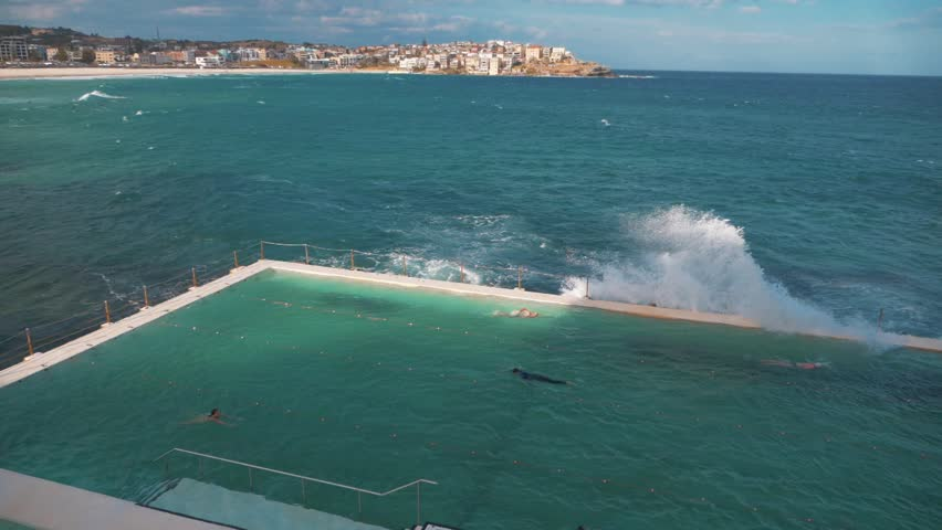 Bondi Icebergs Pool in Sydney Australia | Shutterstock HD Video #1013171969