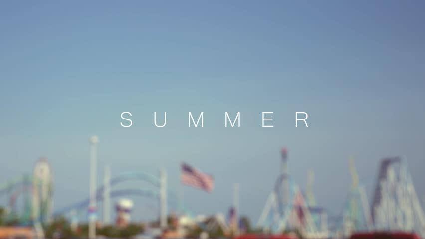 Hipster Millennial sayings over amusement park background - Summer