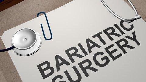 BARIATRIC SURGERY concept