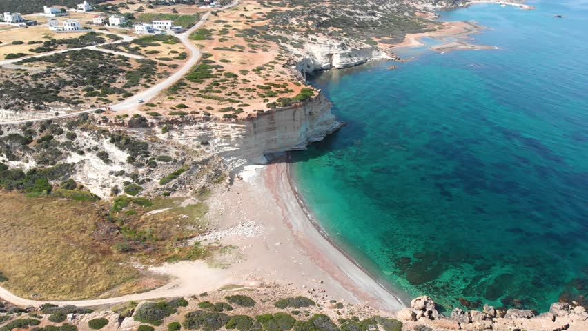 White River Beach in Cyprus, Paphos, Peyia area towards Akamas peninsula, cliff and crystal clear sea water, the beach is usually not crowded   Shutterstock HD Video #1013290769