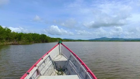 A short boat trip near a mangrove forest and fishermen in the middle of the Golfo de Fonseca in El Salvador, Central America. Shot with DJI Osmo stabilized gimbal.