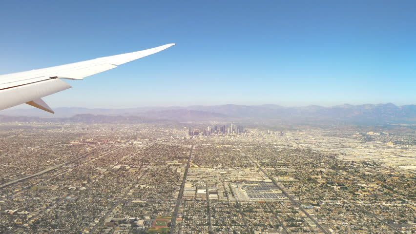 Aerial view city of Los Angeles city in California in 4k slow motion 60fps   Shutterstock HD Video #1013392709