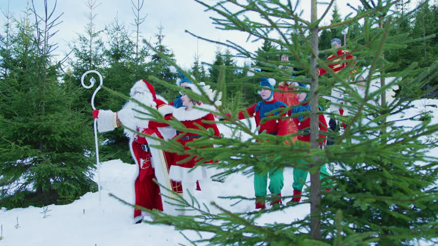 Famous Art - theatre company Romania / Santa Claus and his elves dancing | Shutterstock HD Video #1013539109