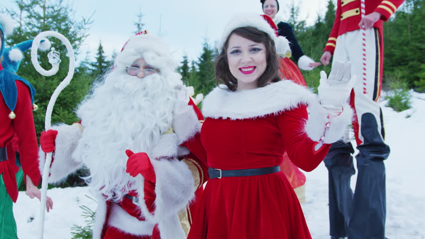 Famous Art - theatre company Romania / Christmas girl and Santa dancing | Shutterstock HD Video #1013539169