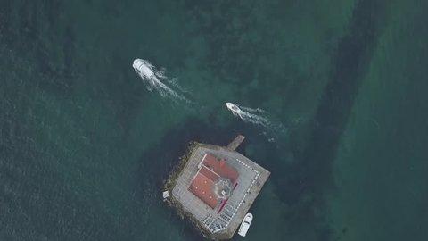 maiden's tower drone istanbul marmara sea uskudar bosphorus