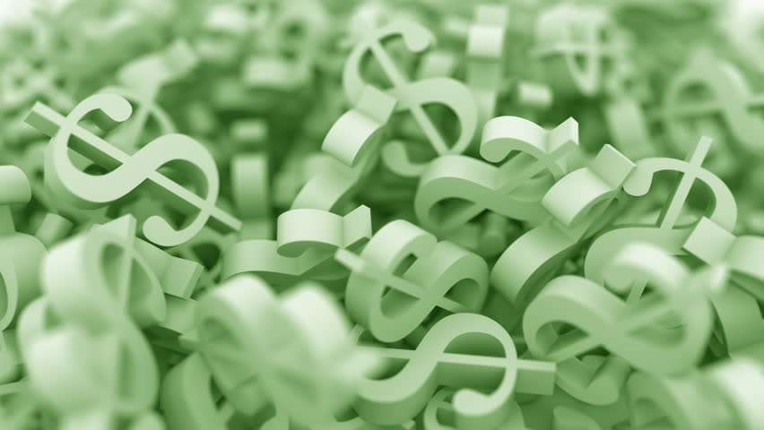 Pile of green dollar signs. Conceptual 3D animation | Shutterstock HD Video #1013666039