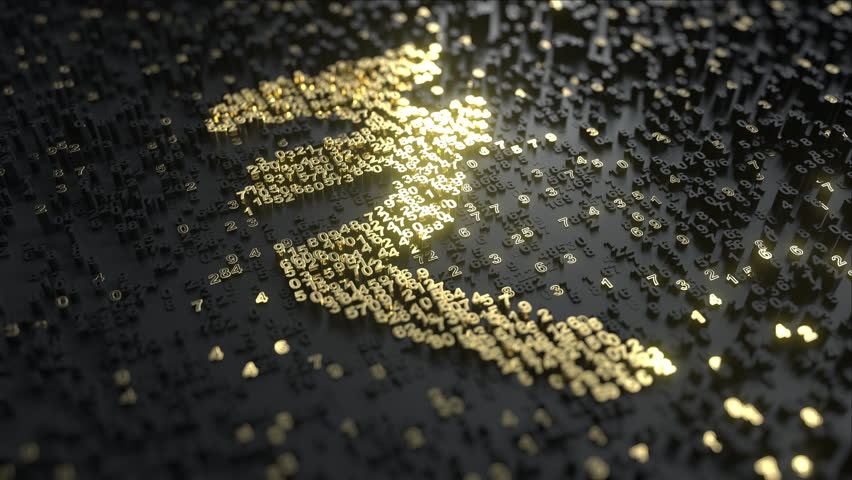 Indian rupee sign made of gold numbers. Conceptual animation   Shutterstock HD Video #1013759759