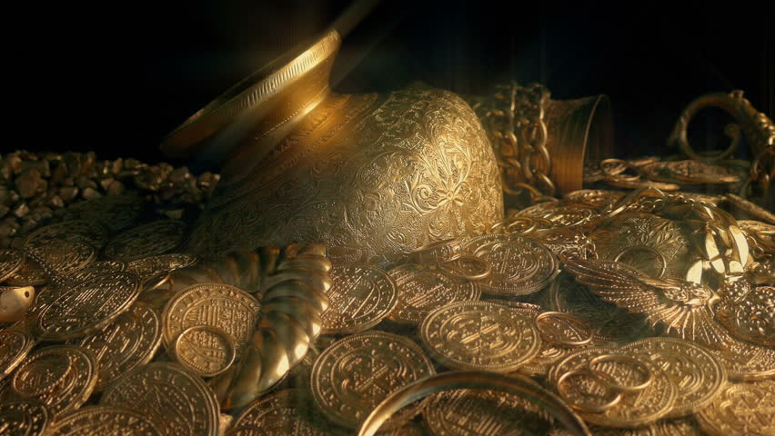 Piles Of Sparkling Treasure   Shutterstock HD Video #1013823479