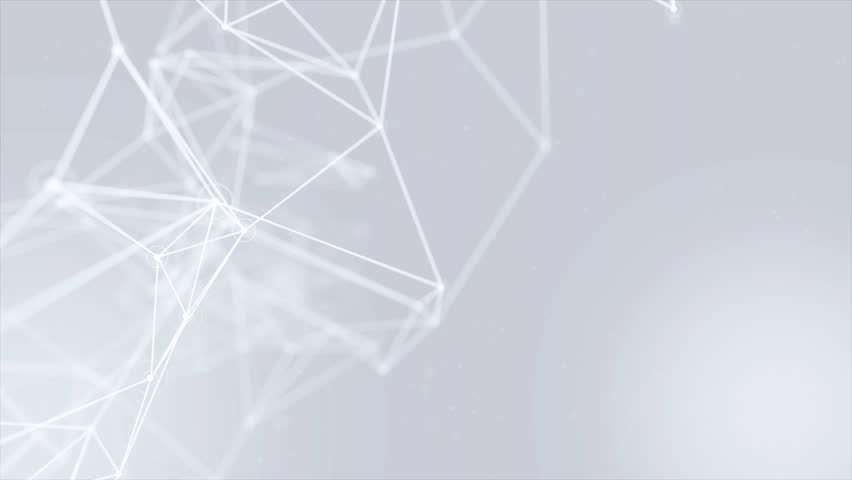 Clean White Abstract polygonal Digital Concept Geometrical Polygon Plexus Fractals Moving low poly Technologies Minimalist design element Seamless loop background for corporate business presentation | Shutterstock HD Video #1013908589