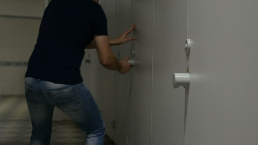 male man with frequent urination strongly wants to the restroom