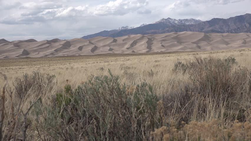 Beautiful landscape of sand dunes. Great Sand Dunes National Park, Colorado, USA
