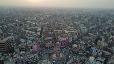 4k Footage of Faisalabad Clock Tower