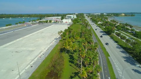 Key Biscayne Florida aerial drone footage
