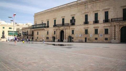 Hyperlapse of Grandmaster's Palace Valetta, Malta