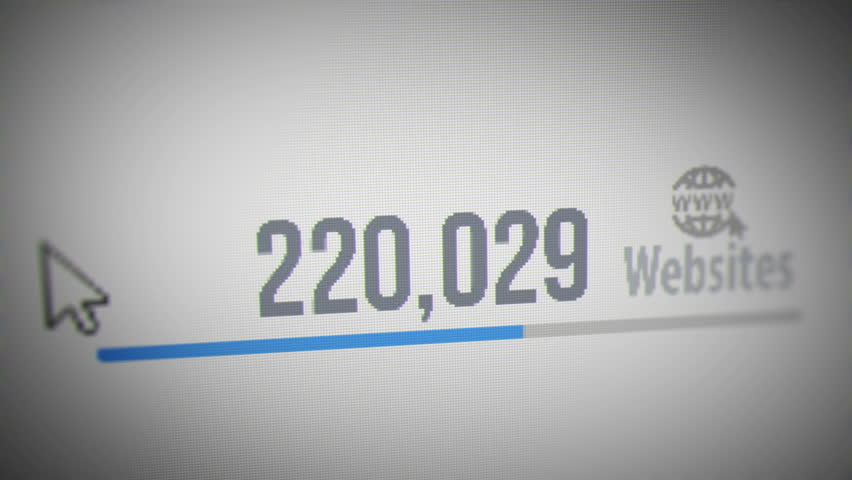 Number of Websites Increasing to 1 Million Websites. | Shutterstock HD Video #1014041579