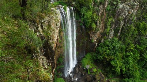 Establishing shot of Queen Mary Falls in Killarney, Queensland, Australia.