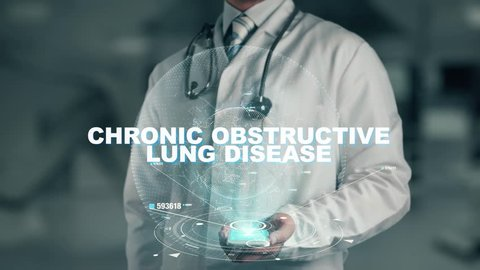 Doctor holding in hand Chronic Obstructive Lung Disease