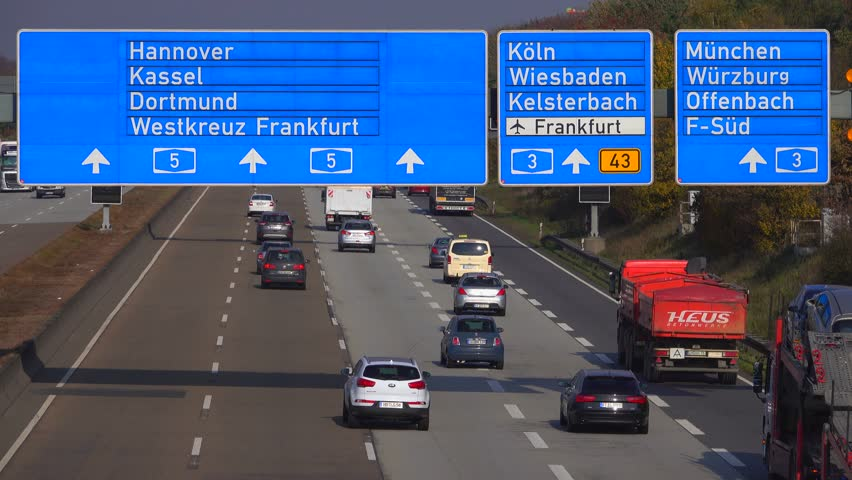Motorway A5 near Frankfurter Kreuz, Frankfurt Airport, Frankfurt am Main, Hesse, Germany, Europe