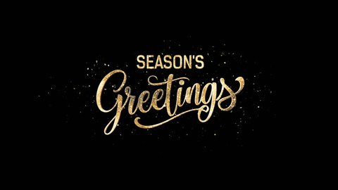 Seasons Greeting Intro Text + Alpha Channel