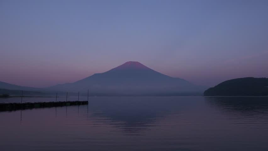 Mt.fuji in the early morning, lake yamanakako | Shutterstock HD Video #1014129599