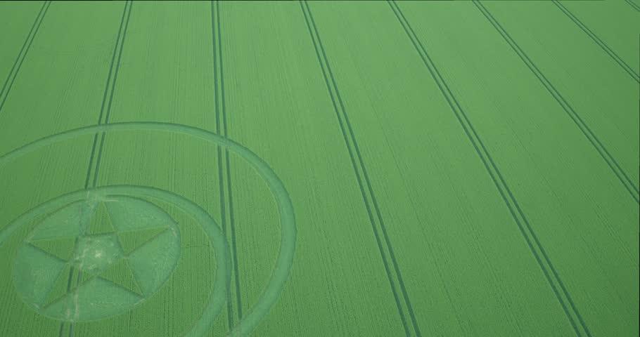 Crop circle in Wiltshire UK 2018, Hackpen Hill