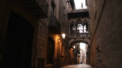 Barcelona view - old and famous historical city in Catalonia, Spain.