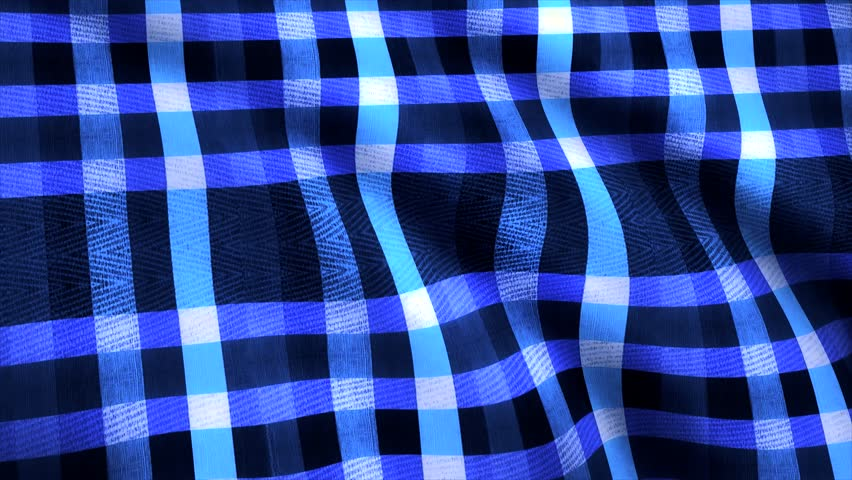 Blue cage fabric backgrond. Fabric as background. Terry cloth in a white blue cage | Shutterstock HD Video #1014305189