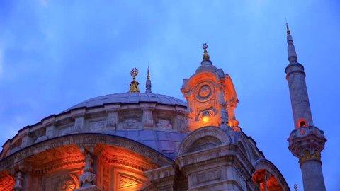 Ortakoy Mosque in Besiktas, Istanbul, Turkey.