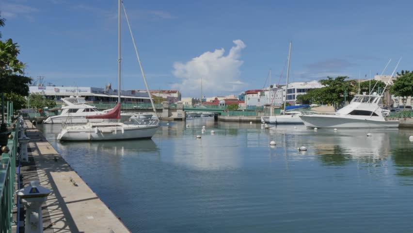 Parliament Building and Constitution River, Bridgetown, St Michael, Barbados, West Indies, Caribbean