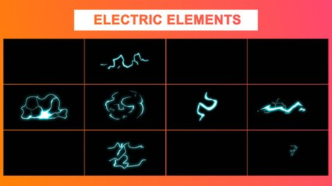 Hand Drawn Electric Elements Motion Graphics Pack contains dynamic 2d cartoon fire elements. Easy to use. Just drop elements to your project. Use with your video and graphics. Alpha channel included