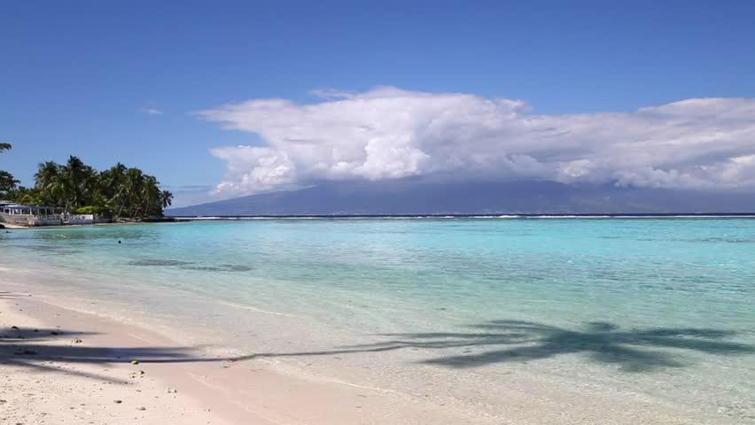 Woman on Temae Beach, Mo'orea, French Polynesia