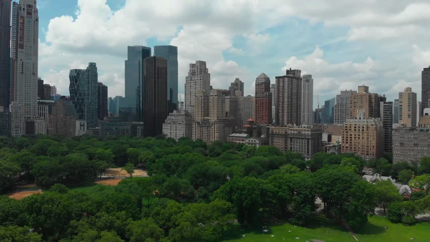 Urban architecture. Cityscape of New York with tall skyscrapers | Shutterstock HD Video #1014753719