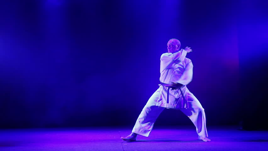 A Man Shows Karate Hits Stock Footage Video (100% Royalty-free) 1014907459  | Shutterstock