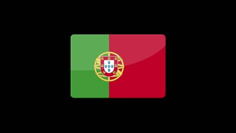 Flag of Portugal Beautiful 3d animation of Portugal flag in loop mode.Portugal flag animation