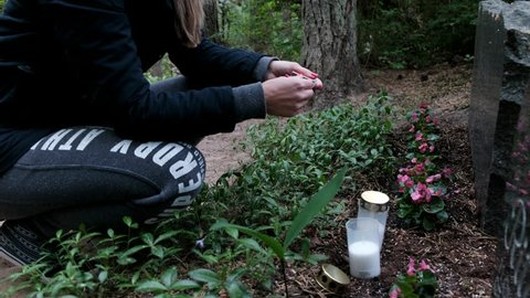 Lighting a candel
