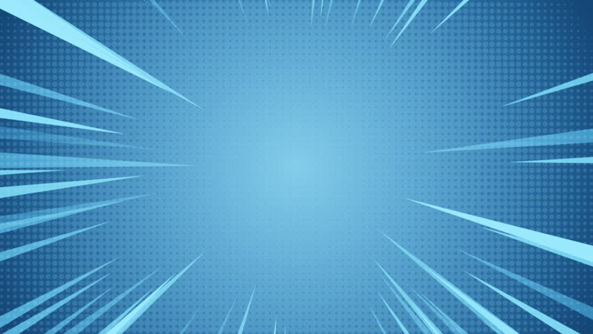 Radial Background of halftones and high-speed abstract lines for Anime