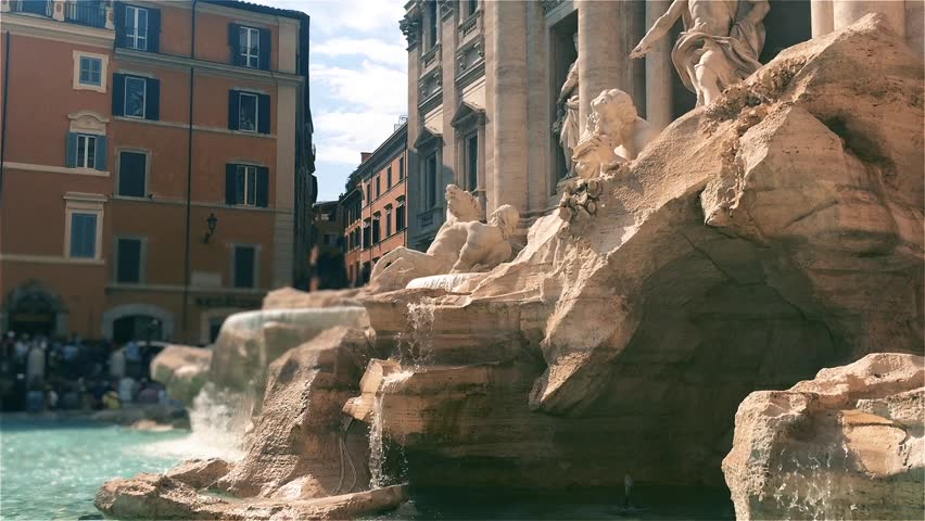 Fontana Di Trevi (Trevi Fountain) In Rome, Italy.