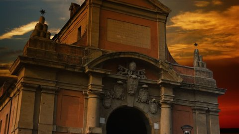 Porta Galliera was a gate or portal of the former outer medieval walls of the city of Bologna, Italy.time lapse