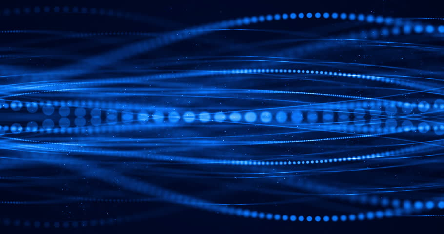 Abstract blue growing bright bunch of optical fibers background, fast light signal for high speed internet connection | Shutterstock HD Video #1015339249