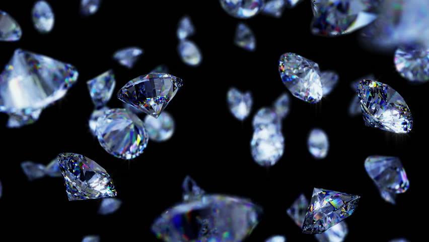11 Video footage of precious stones, diamonds