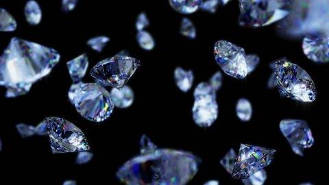 Falling Diamonds Background Loop
