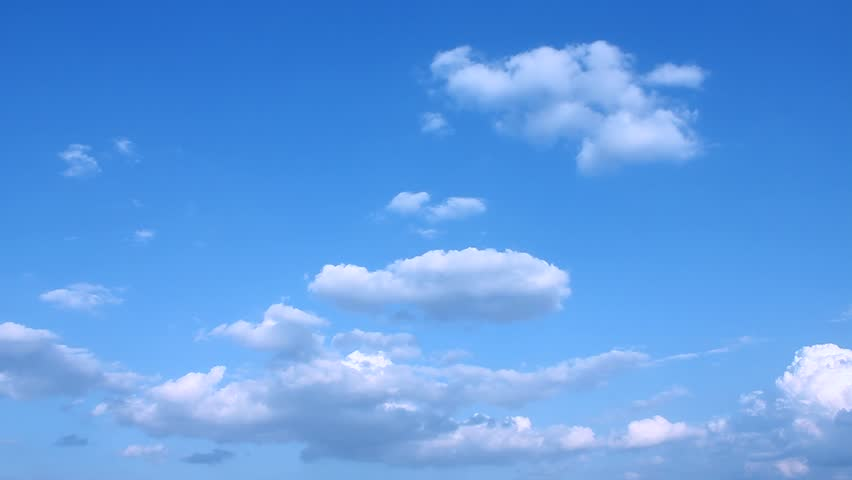 Blue sky background, rolling & formating clouds in horizon, time lapse very beautiful cloudscape, fluffy, puffy horizon panorama, sunny clean weather. NOT CG, Full HD, 1920x1080, 30 FPS. #1015486849